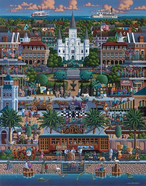 New Orleans - 1000pc Jigsaw Puzzle by Dowdle