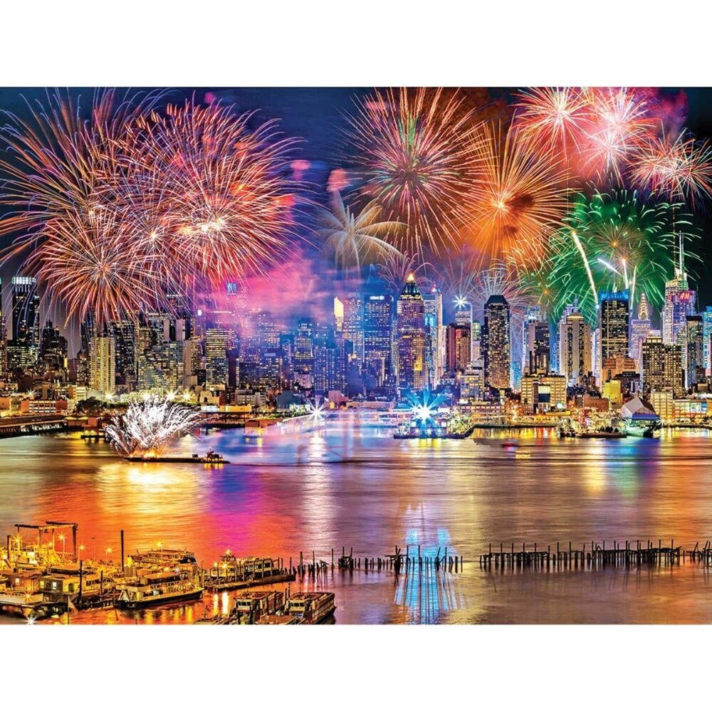Kodak: Fireworks on the Hudson River - 1000pc Jigsaw Puzzle by Lafayette Puzzle Factory  			  					NEW
