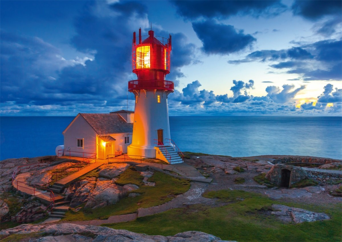 Lighthouse at Twilight - 1000pc Jigsaw Puzzle by Schmidt  			  					NEW