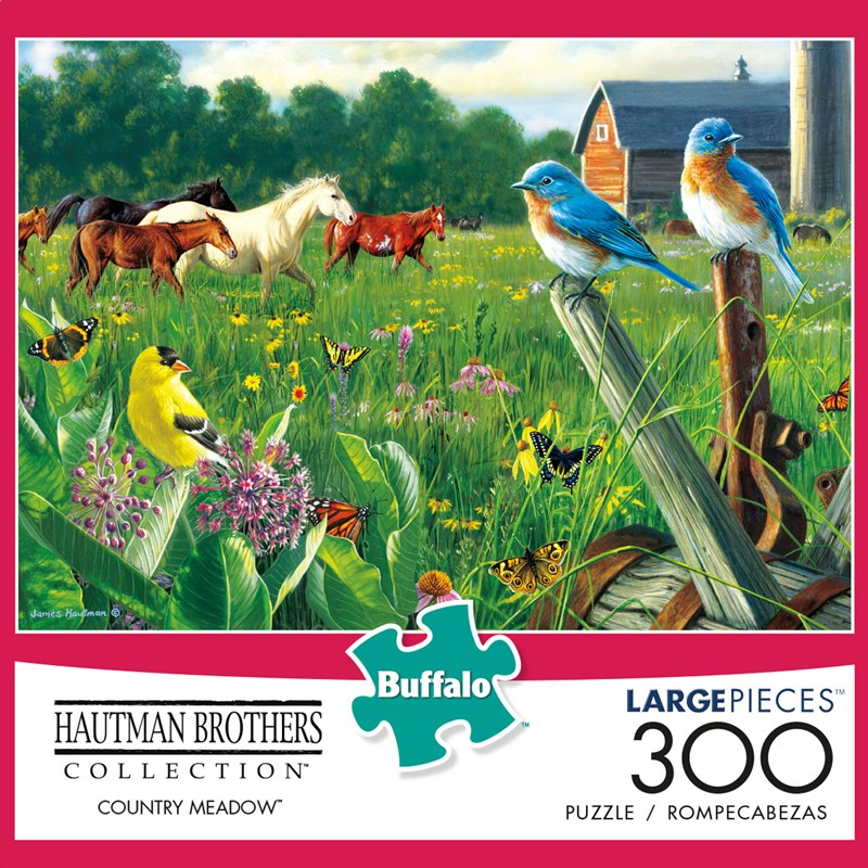 Hautman Brothers: Country Meadow - 300pc Jigsaw Puzzle by Buffalo Games - image 1
