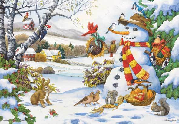 Frosty's Gifts - 260pc Jigsaw Puzzle by Anatolian
