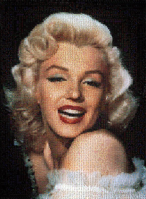 Marilyn Monroe - 500pc Photomosaic Jigsaw Puzzle By Tomax
