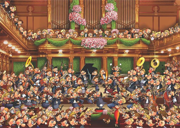 Concert - 1500pc Jigsaw Puzzle by Anatolian  			  					NEW