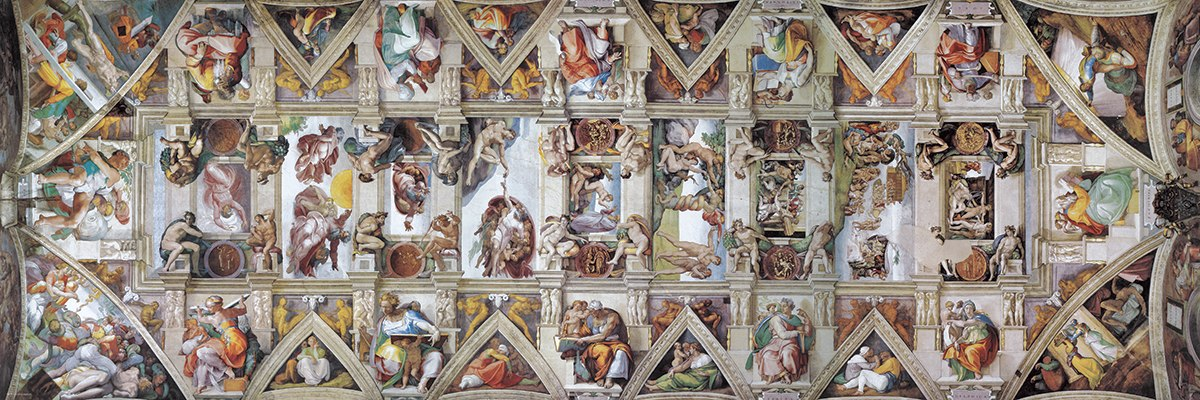 The Sistine Chapel Ceiling by Michelangelo - 1000pc Jigsaw Puzzle by Eurographics