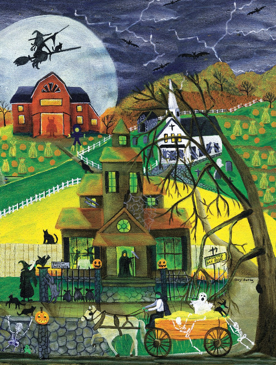 Haunted Hayride - 500pc Jigsaw Puzzle by Sunsout  			  					NEW