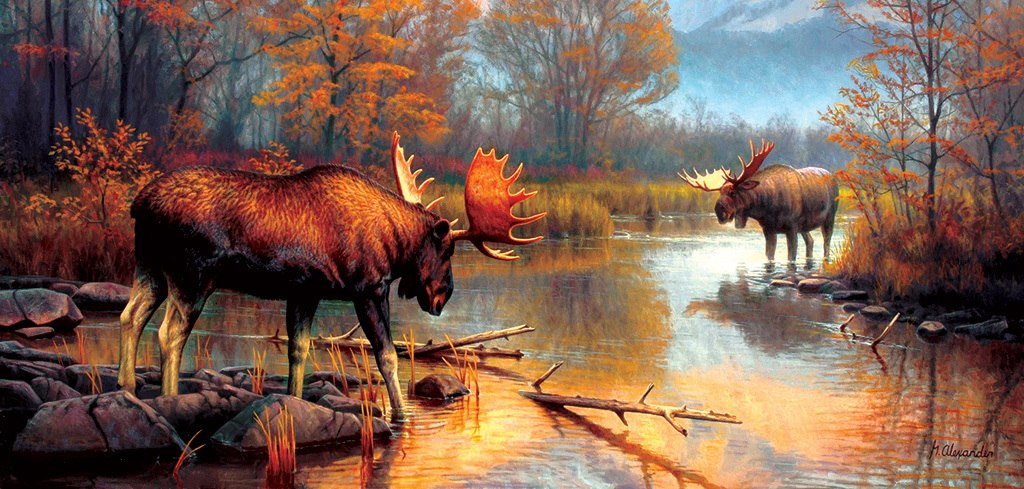 Showdown at  Oxbow - 500pc Jigsaw Puzzle by Sunsout