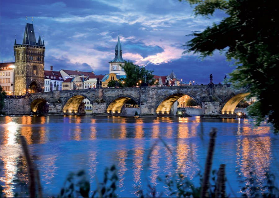 Prague Bridge  - 1000pc Jigsaw Puzzle by D-Toys
