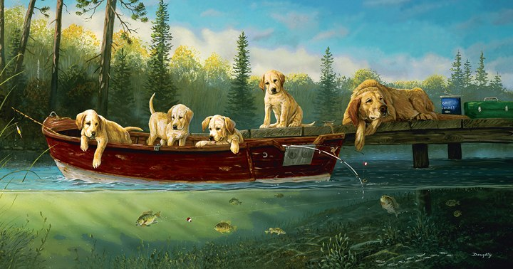 Fishing Lessons - 550pc Jigsaw Puzzle By Sunsout