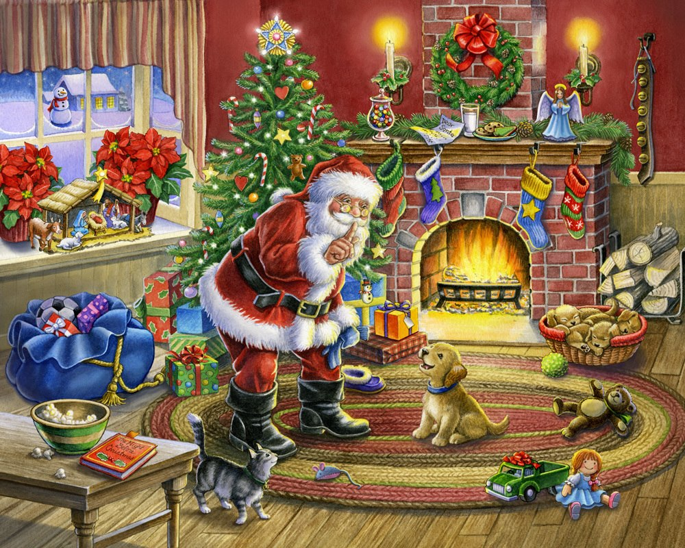 No Barking! - 1000pc Jigsaw Puzzle by Vermont Christmas Company  			  					NEW