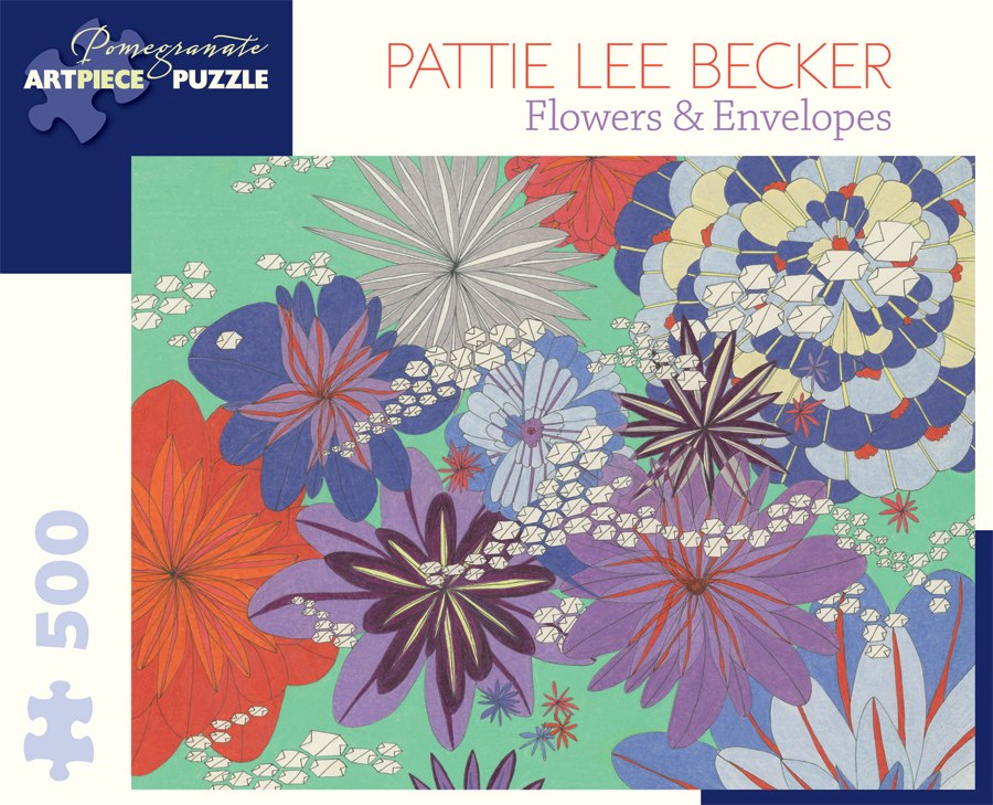 Becker: Flowers, Envelopes - 500pc Jigsaw Puzzle by Pomegranate