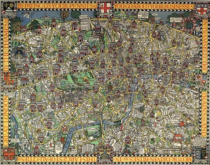Gill: Wonderground Map of London - 1000pc Jigsaw Puzzle by Pomegranate  			  					NEW