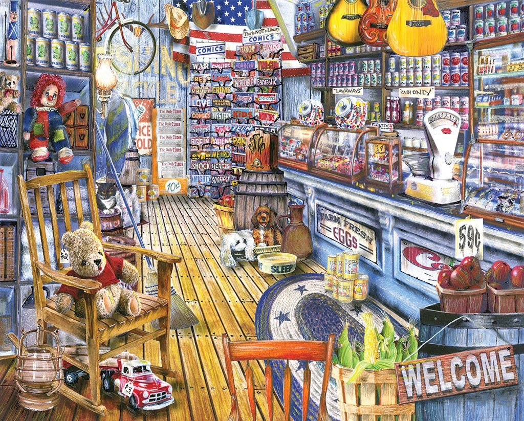 Jackson General Store  - 1000pc Jigsaw Puzzle by White Mountain