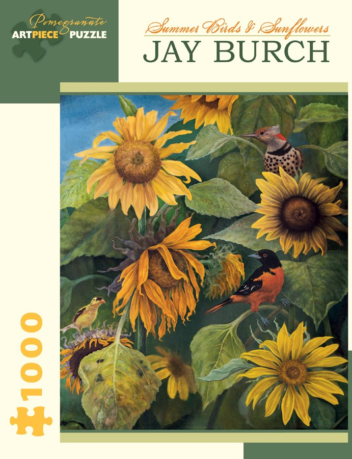 Burch: Summer Birds & Sunflowers - 1000pc Jigsaw Puzzle by Pomegranate