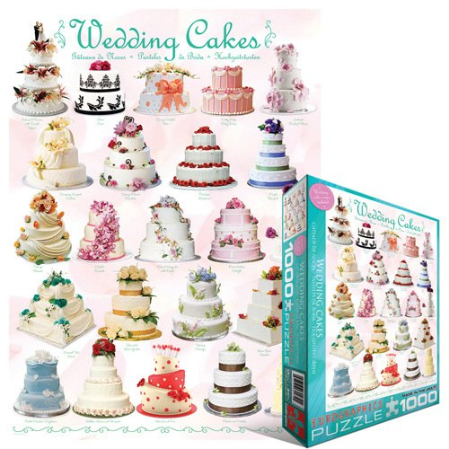 Wedding Cakes - 1000pc Jigsaw Puzzle by Eurographics
