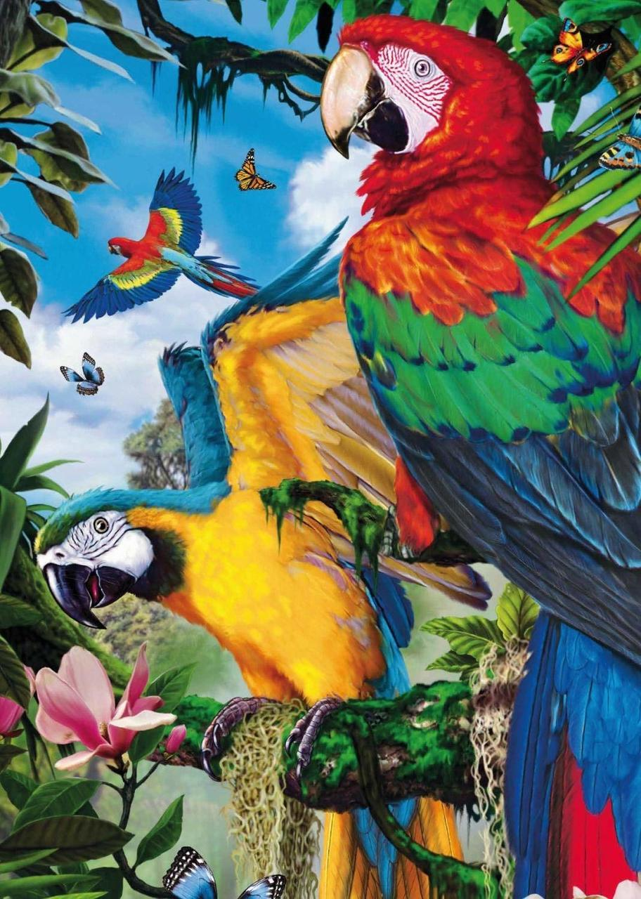 Pretty Parrots - 1000pc Jigsaw Puzzle By Jumbo  			  					NEW