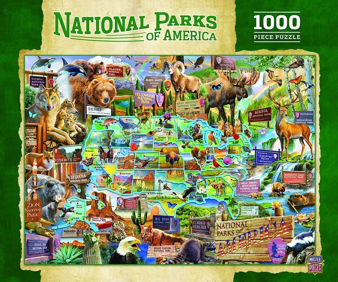 National Parks - 1000pc Jigsaw Puzzle by Masterpieces