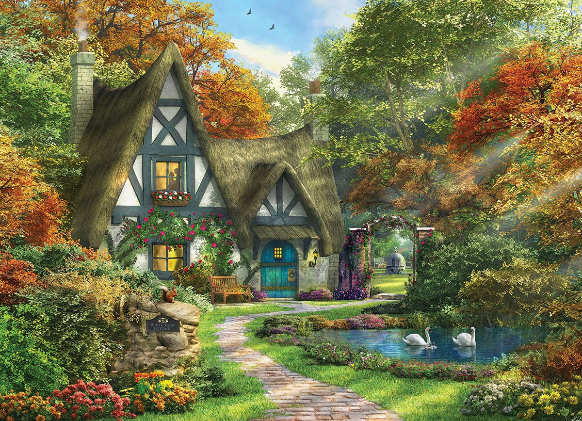 Dominic Davison: White Swan Cottage - 300pc Jigsaw Puzzle by Eurographics