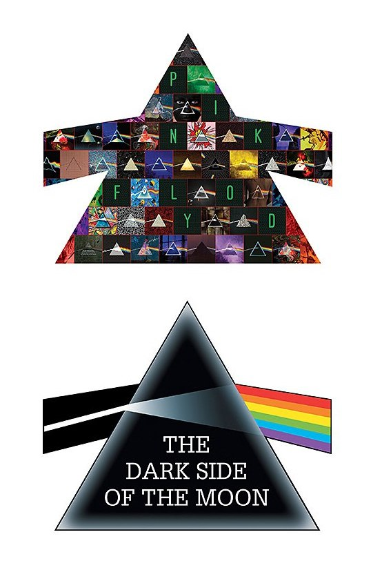 Pink Floyd, The Dark Side of the Moon - 600pc Double-sided Shaped Jigsaw Puzzle by Aquarius  			  					NEW