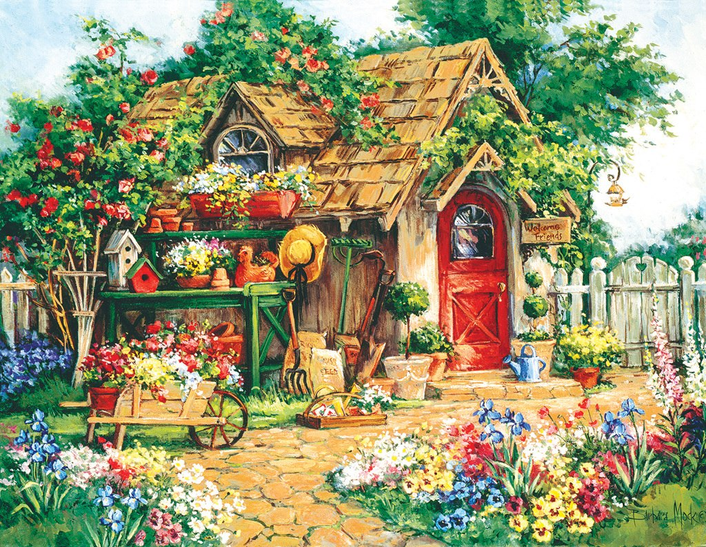 Gardener's  Haven - 1000+pc Large Format Puzzle by SunsOut