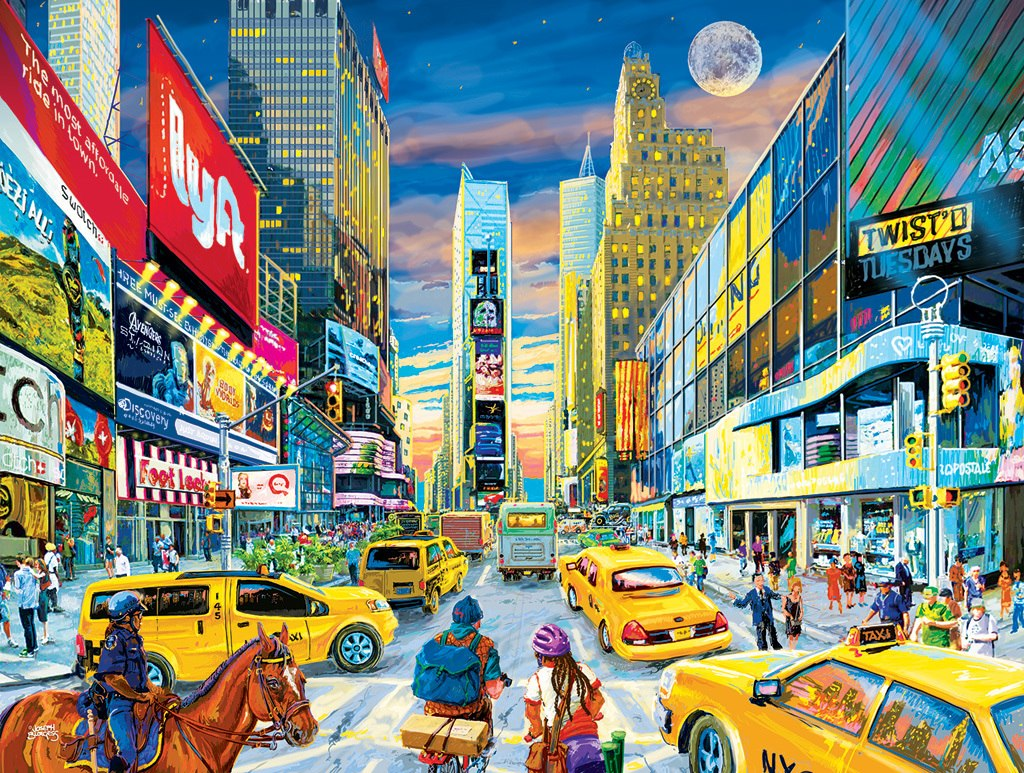 Times Square Intersection - 300pc Large Format Jigsaw Puzzle by Sunsout