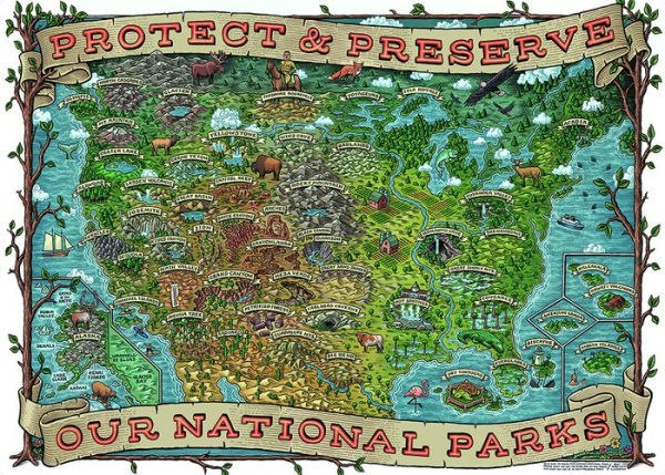 Protect and Preserve USA - 1000pc Jigsaw Puzzle By Ravensburger  			  					NEW