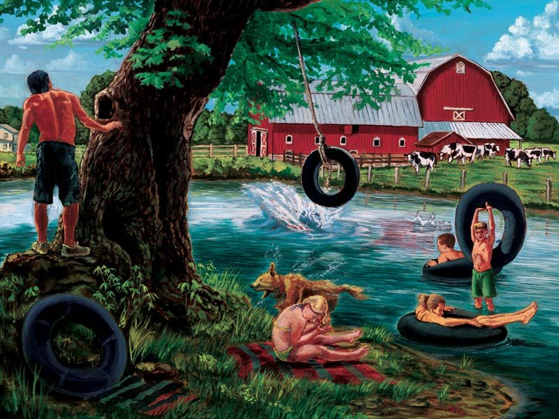 The Swimming Hole - 500pc Jigsaw Puzzle by Cobble Hill - image main