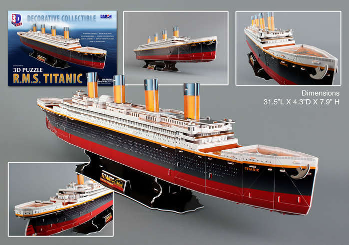 Titanic - 113pc 3D Jigsaw Puzzle by Daron