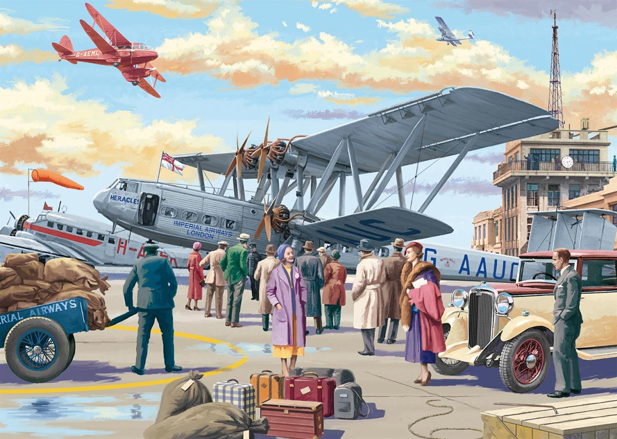 Croydon Airport - 500pc Jigsaw Puzzle By Falcon  			  					NEW