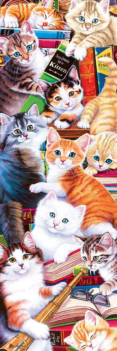 Smitten Kittens - 500pc Panoramic Jigsaw Puzzle by Masterpieces  			  					NEW