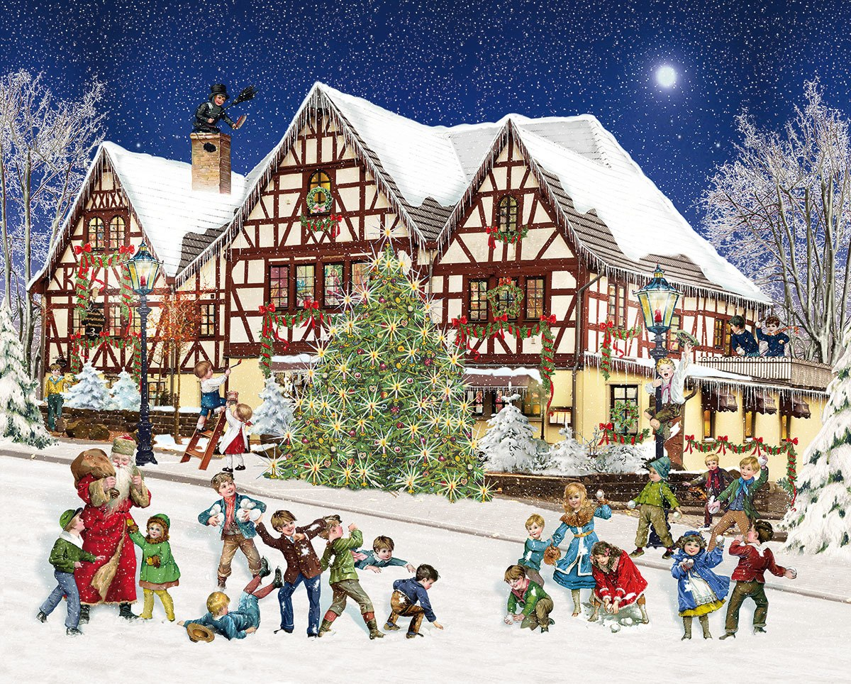 Snowball Fight - 1000pc Jigsaw Puzzle By White Mountain