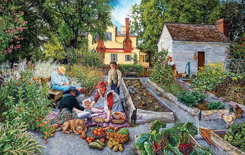 Garden Scene - 1000pc Jigsaw Puzzle by Sunsout