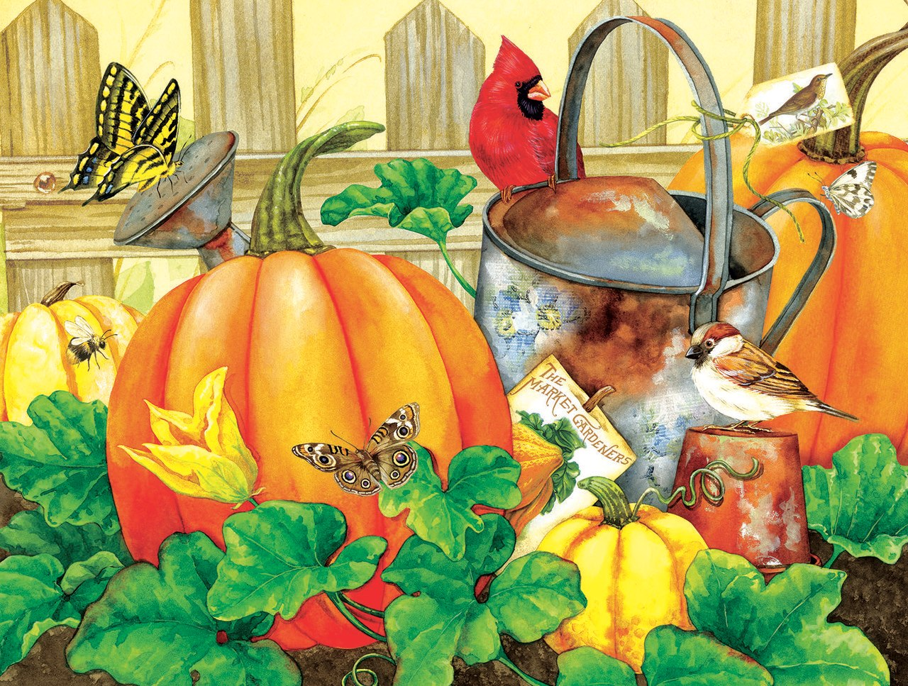 October Garden - 500pc Jigsaw Puzzle by Sunsout  			  					NEW