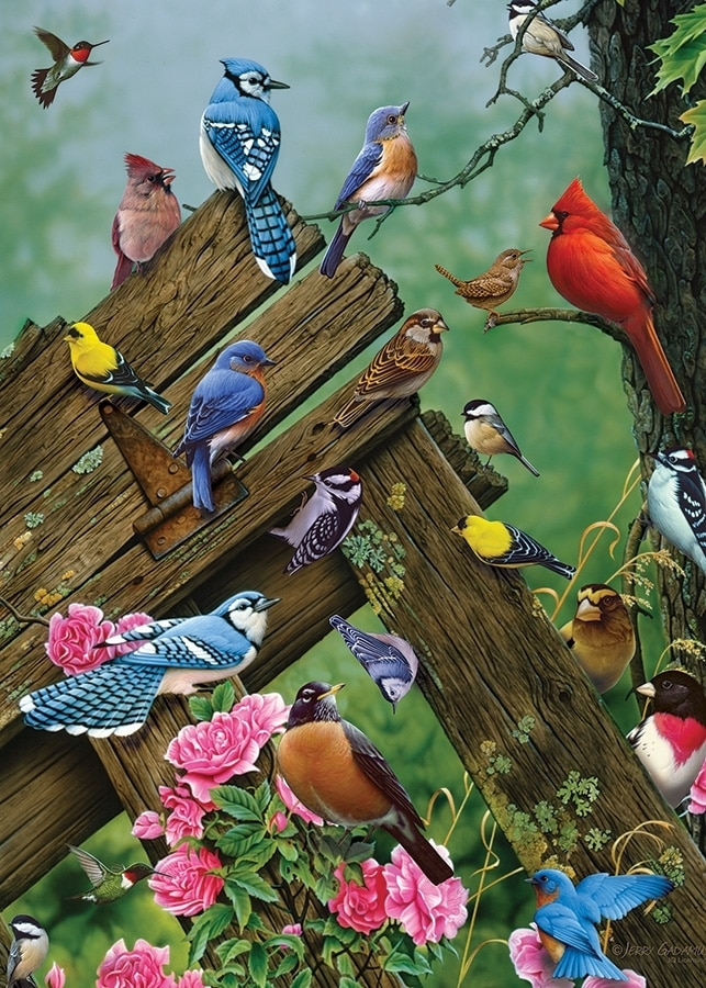Wildbird Gathering - 35pc Tray Puzzle by Cobble Hill  			  					NEW