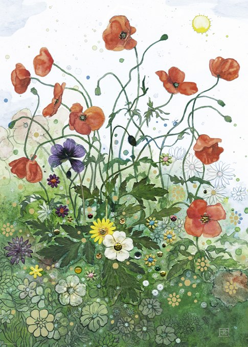 Red Poppies - 1000pc Jigsaw Puzzle By Heye  			  					NEW