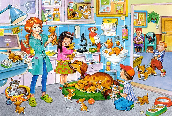 A Visit at the Vet - 40pc Jigsaw Puzzle By Castorland