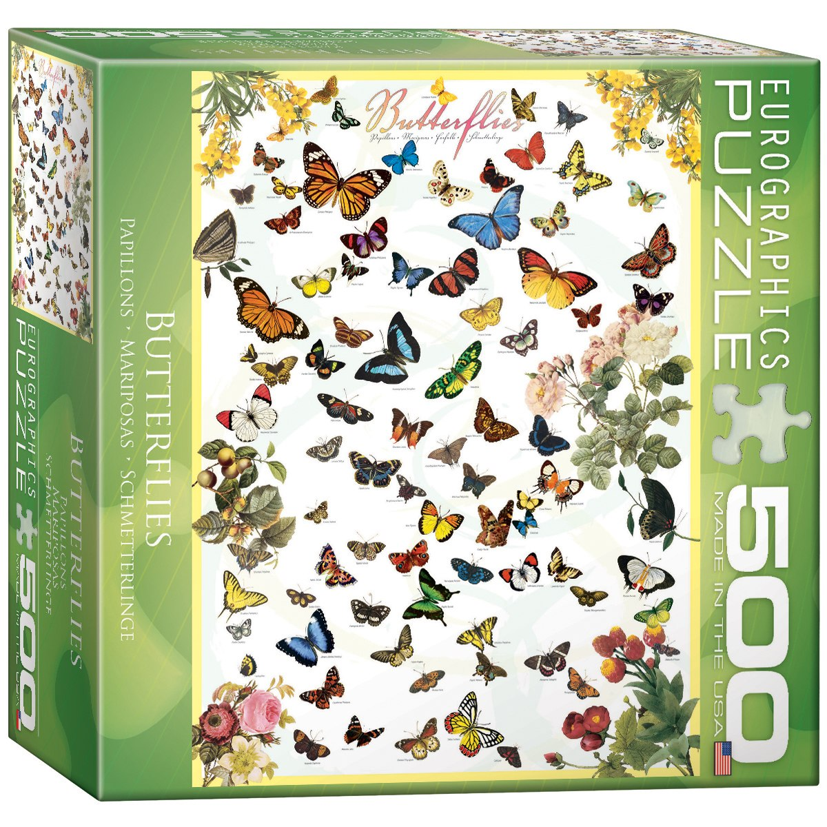 Butterflies (Small Box) - 500pc Jigsaw Puzzle by Eurographics