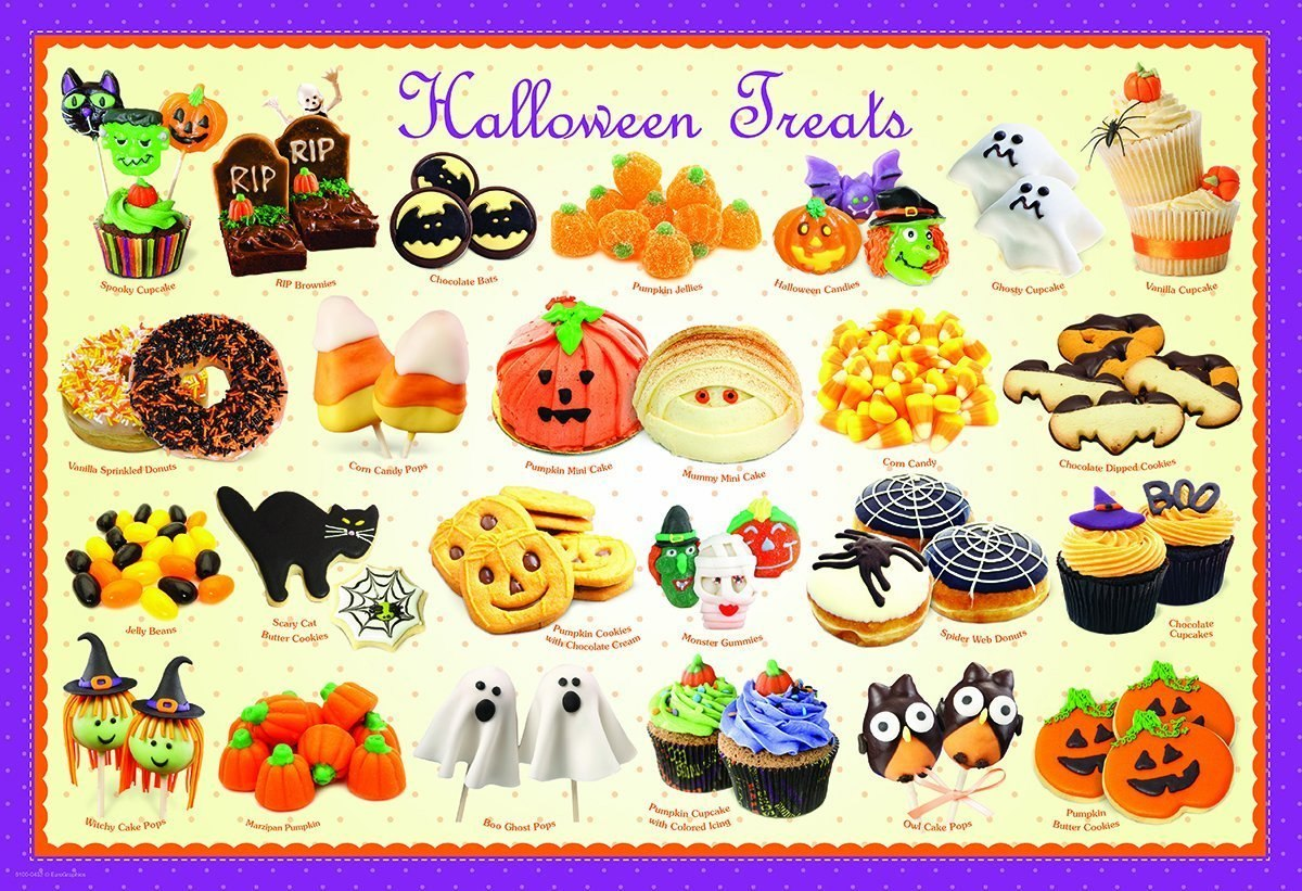 Halloween Treats - 100pc Jigsaw Puzzle by Eurographics  			  					NEW