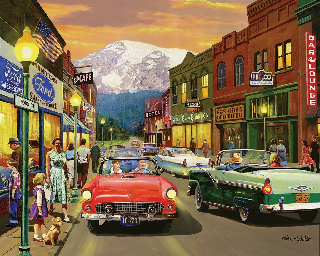 Main Street  - 1000pc Jigsaw Puzzle by White Mountain