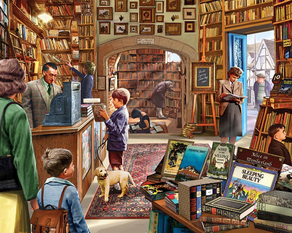 Old Book Shop - 1000pc Jigsaw Puzzle By White Mountain
