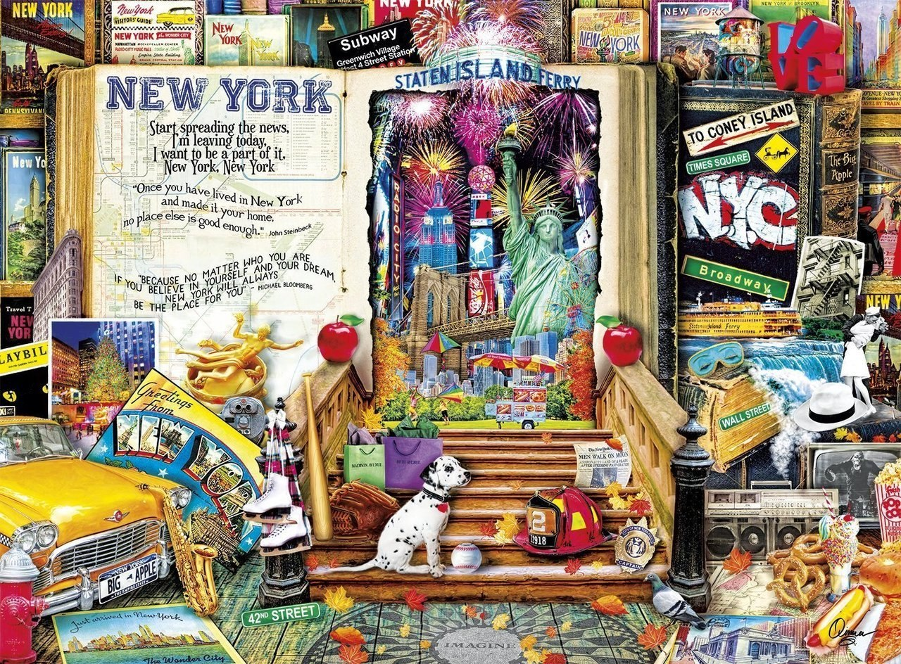 Life is an Open Book: New York - 1000pc Jigsaw Puzzle by Holdson  			  					NEW