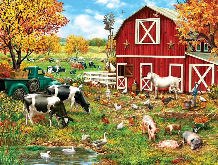 A Day on the Farm - 300pc Jigsaw Puzzle By Sunsout