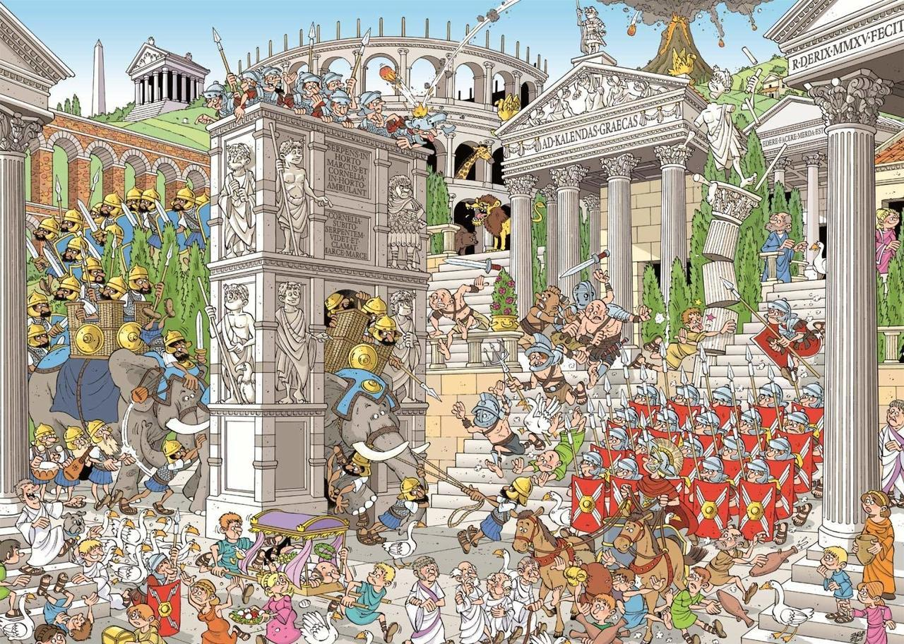 Pieces of History: The Romans - 1000pc Jigsaw Puzzle By Jumbo  			  					NEW