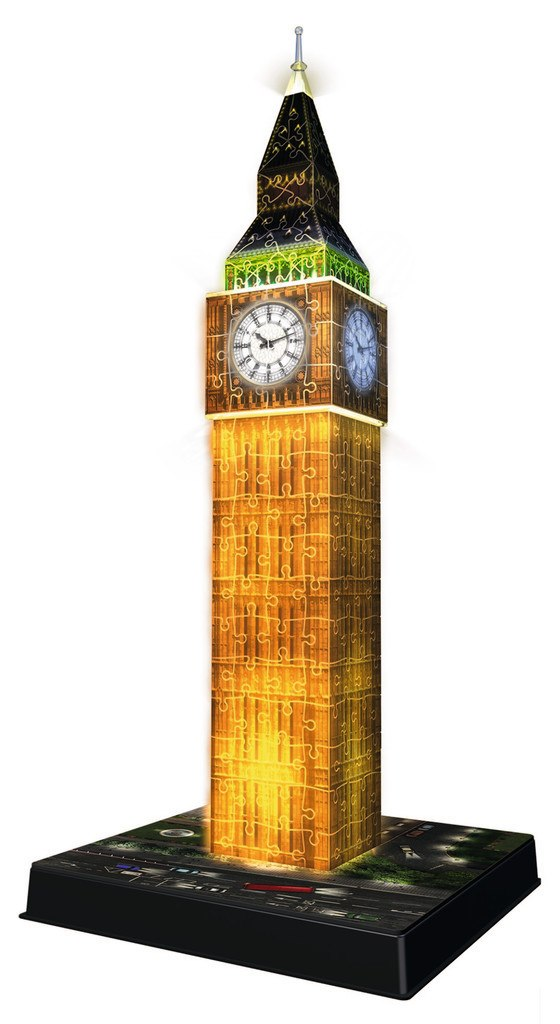 Big Ben: Night Edition - 216pc 3D Jigsaw Puzzle By Ravensburger
