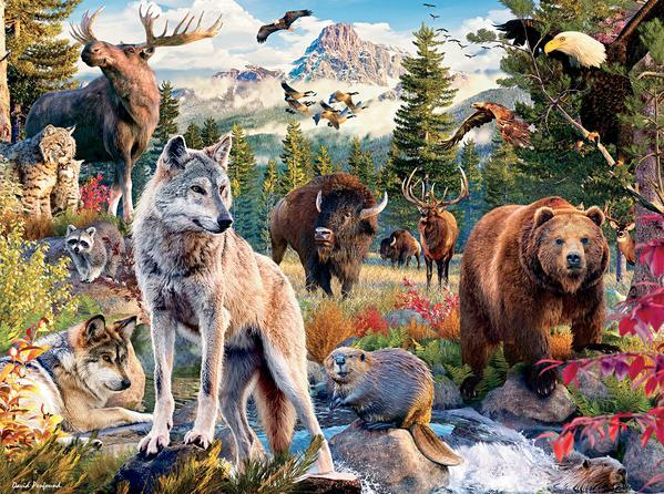 Wild: American Animals - 1000pc Jigsaw Puzzle by Ceaco  			  					NEW