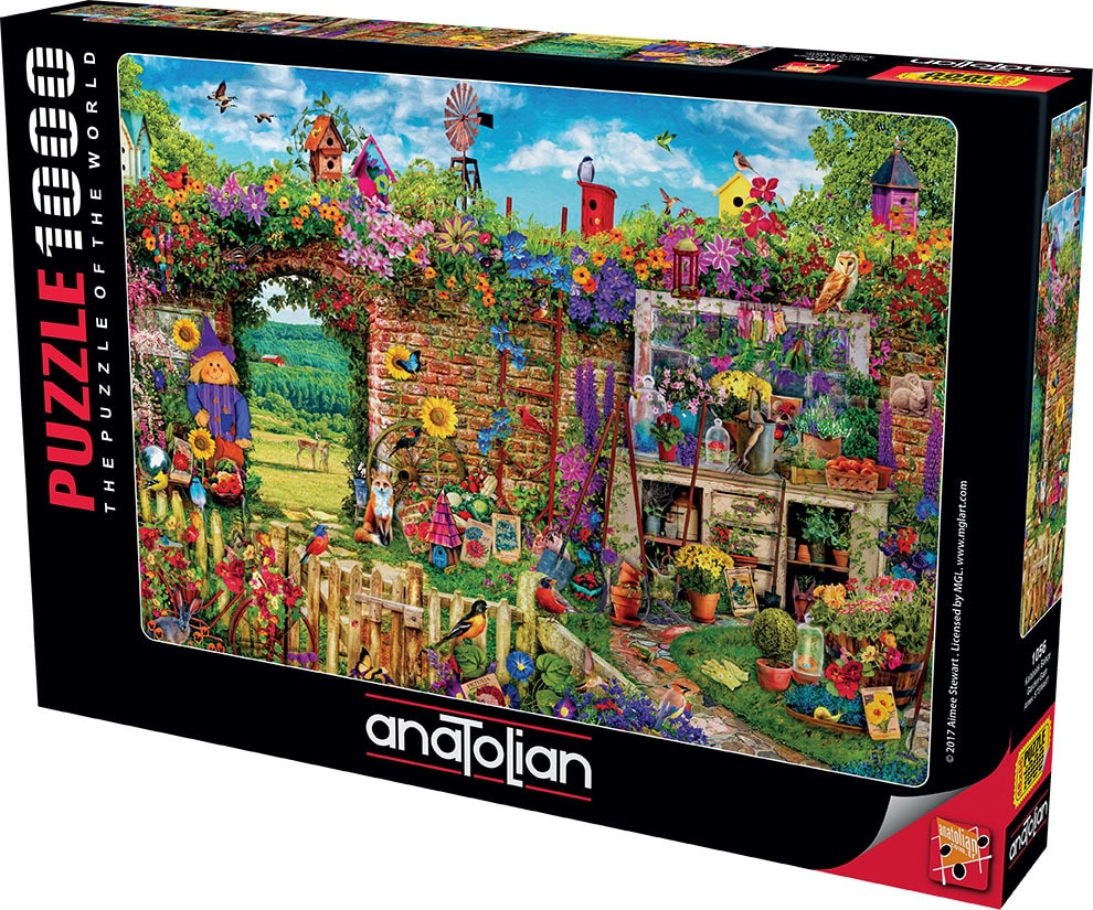 Garden Gate - 1000pc Jigsaw Puzzle by Anatolian  			  					NEW - image 1