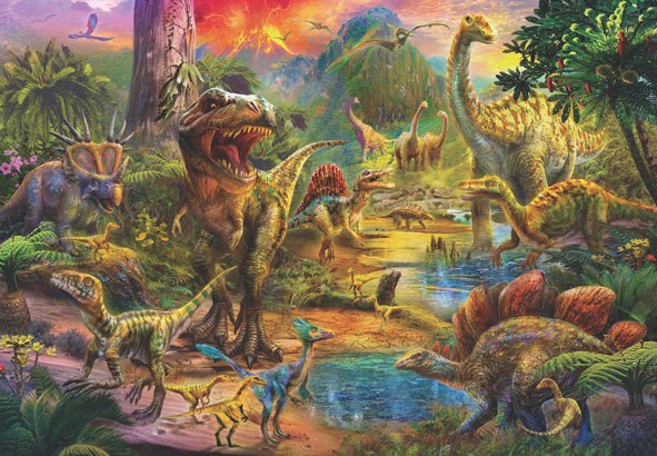 Landscape of Dinosaurs - 500pc Jigsaw Puzzle by Anatolian  			  					NEW