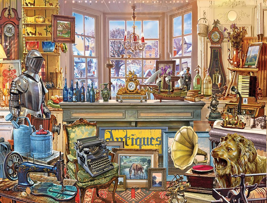 Antique Shoppe - 1000pc Jigsaw Puzzle By White Mountain  			  					NEW