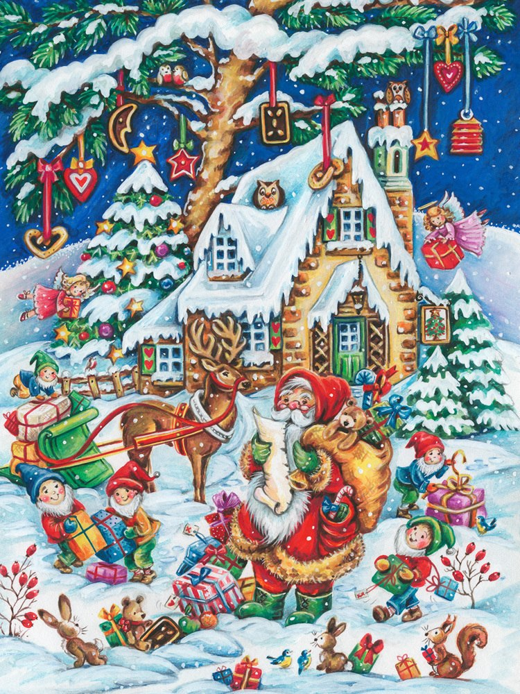 Santa's Helpers - 550pc Jigsaw Puzzle by Vermont Christmas Company