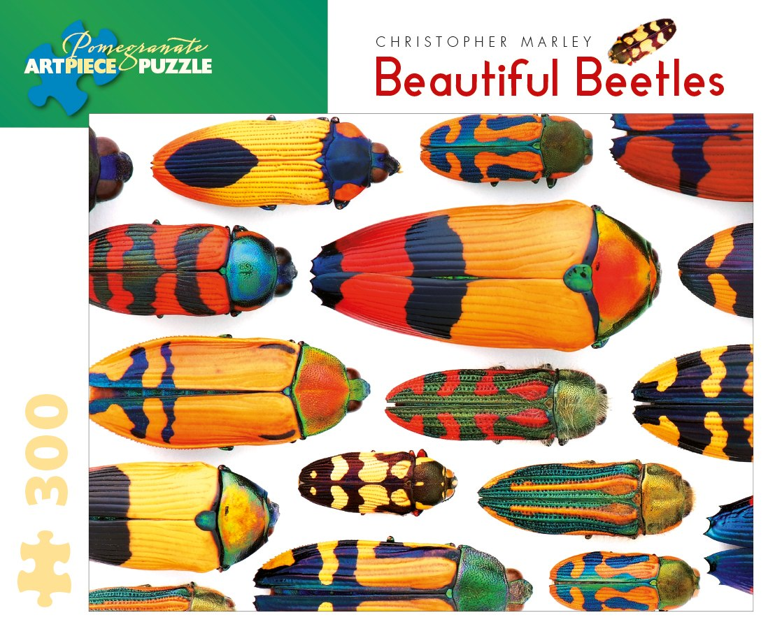 Marley: Beautfiul Beetles - 300pc Large Format Jigsaw Puzzle by Pomegranate