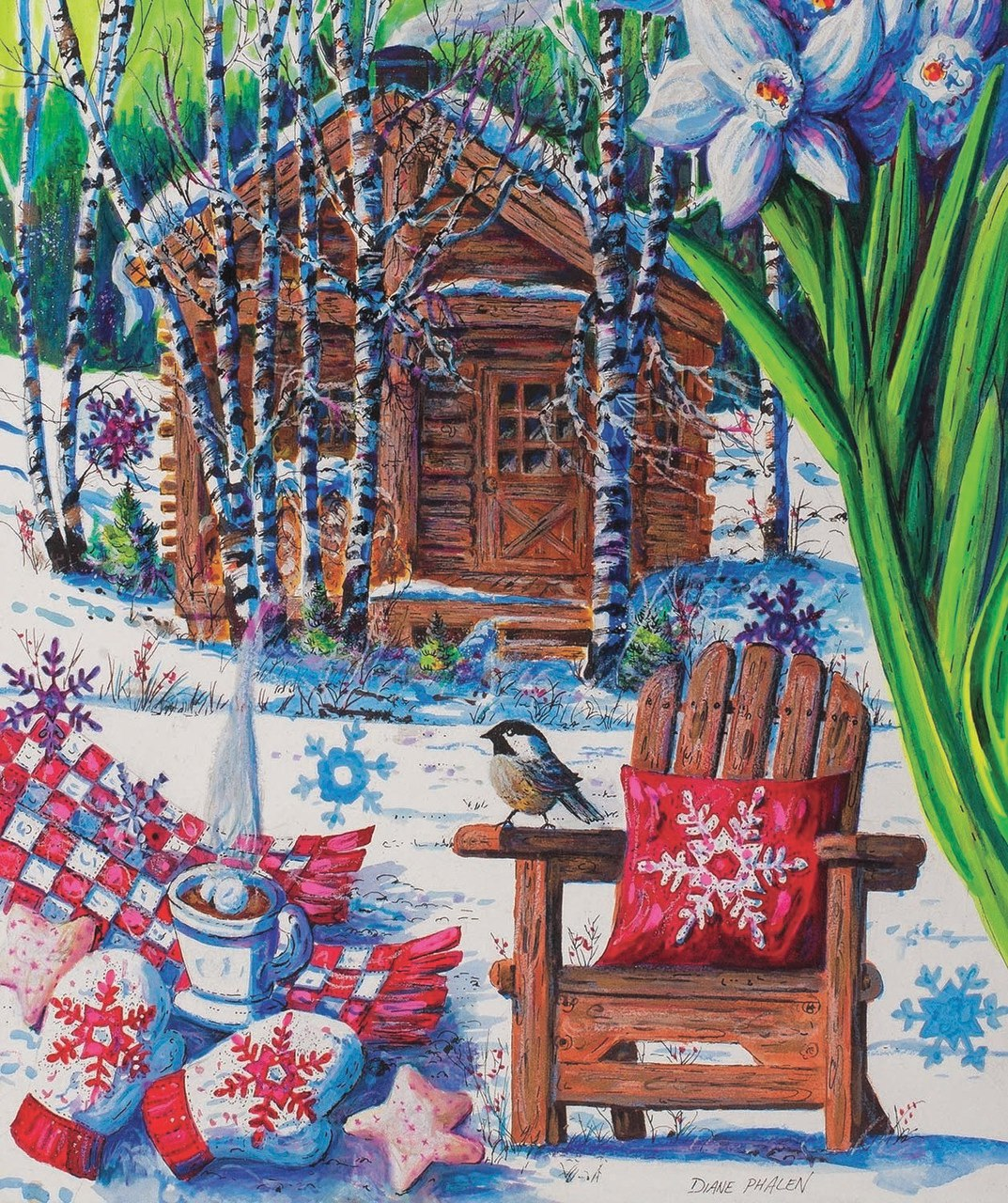 Mountain Cabin Fever - 550pc Jigsaw Puzzle by Sunsout  			  					NEW
